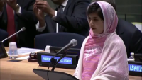 Malala Yousafzai addresses United Nations Youth Assembly