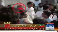 ANP leader Haroon Balour beating PTI voter in NA 1