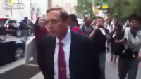 Retired Army General David Petraeus Chased by Students protesting and insults him.