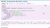 HTML Tutorial - HTML Frameset Border Color