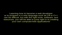 How to become a web developer/programmer