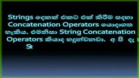 Operators Concatenation Operators Introduction