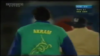 Wasim Akram Bowling With Tape Ball in Live Match