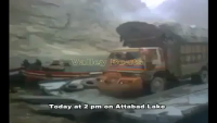 Truck Sink Down into Attabad Lake