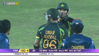 Umar Akmal vs Lakmal Fight Asia Cup 2014 Pak vs SL
