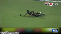 Shahid Afridi & Umar Gul's Slide for Fielding a Ball