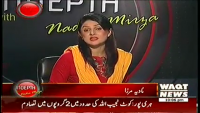 Indepth with Nadia Mirza 15th April 2014 Tuesday at Waqt News
