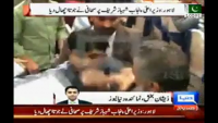 Journalist threw shoe at Shabaz Sharif in press conference