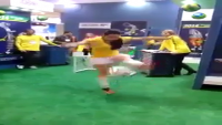 Check Her Football Skills