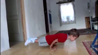 5 Years Old Awesome 90 Degree Pushups