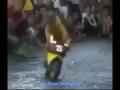 Monkey Riding Bike And Entertaining Public