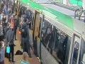 Man Freed From Train by Passengers