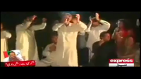 After Pervez Khattak Umar Riaz Abbasi Dancing In Jalsa