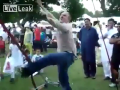 American Dancing On Punjabi Song