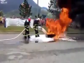 Firefighter Foam Demonstration Fail