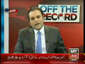 Off The Record 15th September 2014 by Kashif Abbasi on Monday at ARY News