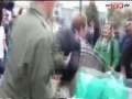 Angry People in Ukraine throws Member Parliament in dustbin