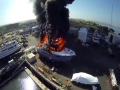 Luxury Yacht In Big Fire