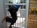 Boy Easily Get Through Jail Cell Door