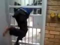 Boy Easily Get Through Jail Cell Door