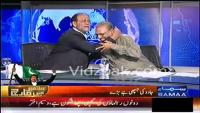 PML N Sheikh Rohail Asghar hugs PTI Dr.Arif Alvi in a Live Show