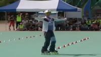 Korean Girl With Slalom Skills