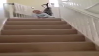 The Baby Found A Play At Stairs