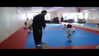 Little Kid Trying To Break Board In Taekwondo In Funny Style