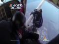 Skydivers Escape A Plane Crash