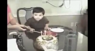 Boy Can't Wait To Blow Birthday Candles
