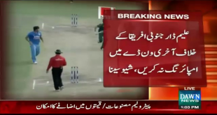 Aleem Dar Threatened to do Umpiring in Ind-SA Match by Shiv Sena