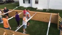 Human fuseball Game - Amazing idea!!