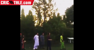 Ahmad Shahzad Playing Cricket With His Wife Sana
