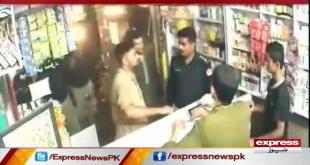 SHO Looting Medical Store In Uniform, Watch CCTV Footage