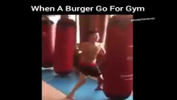 When A Burger Go For A Gym
