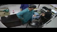 CCTV Footage Of Dacoity Incident In Domino's Pizza