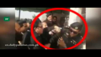 Police Officer Slapped By Lawyer Outside In Islamabad Court