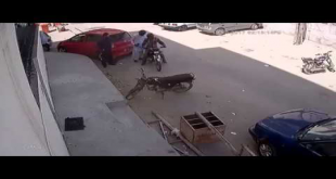 CCTV Footage Of Street Crime Bahadurabad