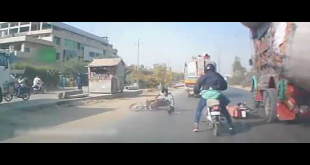 Bikers Survive Horrible Accident In Korangi Area