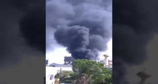 Fire In Aladin Amusement Park