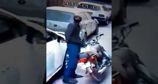 Thief Trying To Steal Side Mirror In F.B Area Block 14