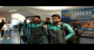 Pakistan Team Received A Maori Welcome At Dunedin International Airport