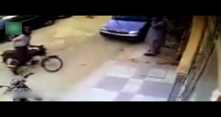 Check The Footage Of Bike Snatching In Karachi