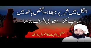 Sher Per Sawar Shaksh Ka Waqia By Allama Raza Saqib Mustafai