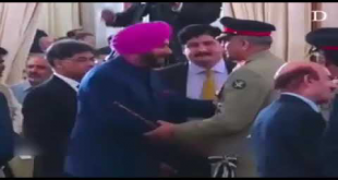 COAS Gen Bajwa Meets Navjot Singh Sidhu At The PM-Elect's Oath Taking Ceremony
