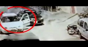 Snatching From Car Driver In Karachi's Gulistan E Johar
