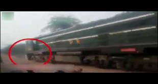 Check How This Guy Survives After Collision With Train In Ferozewala