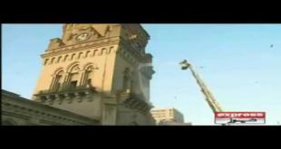 Empress Market Clock Tower Saddar Karachi Washed With Water