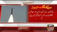 BREAKING NEWS Pakistan test fires Hatf IX missile