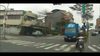 Lucky Woman Almost hit by Truck